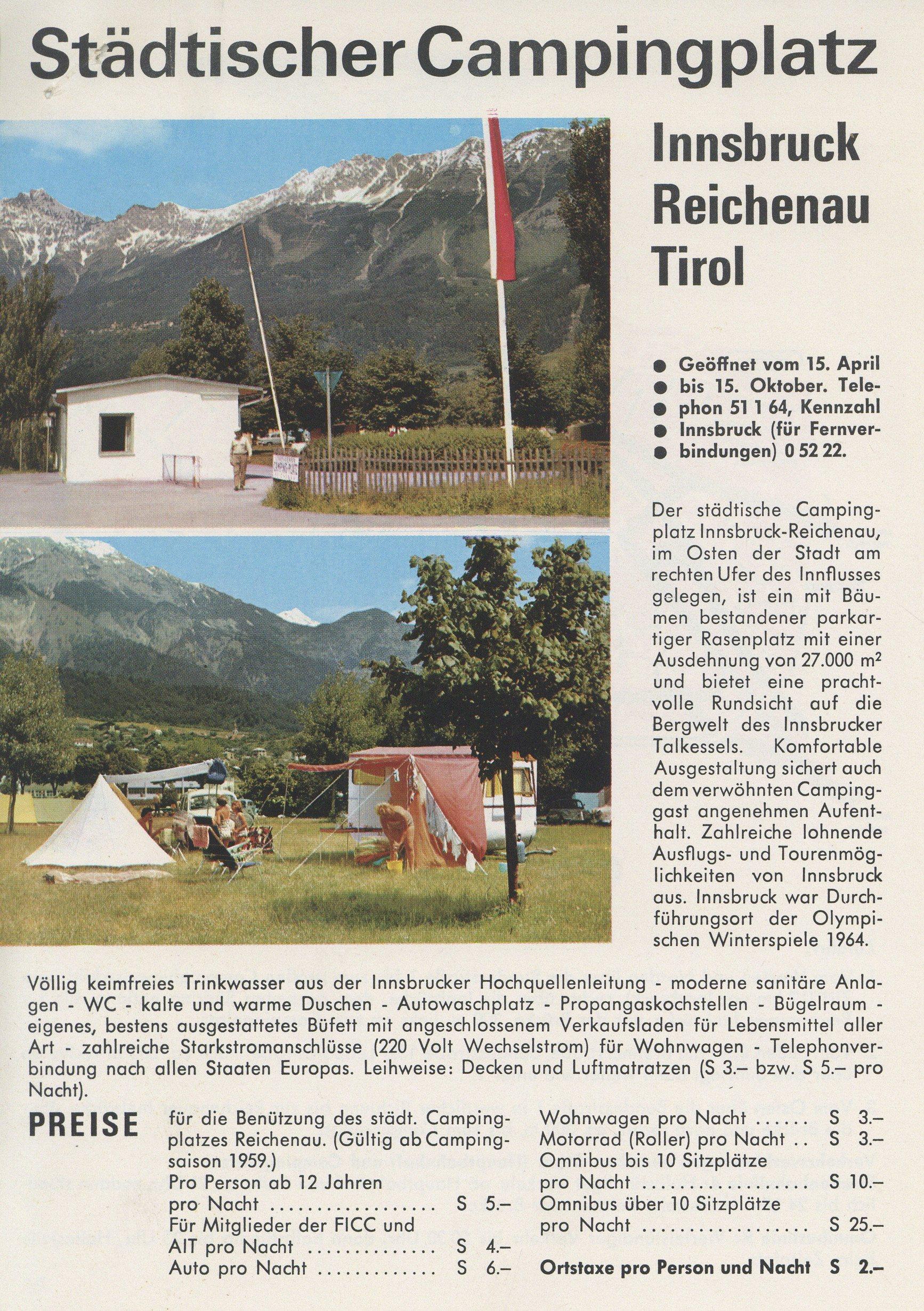 Camping In Innsbruck
