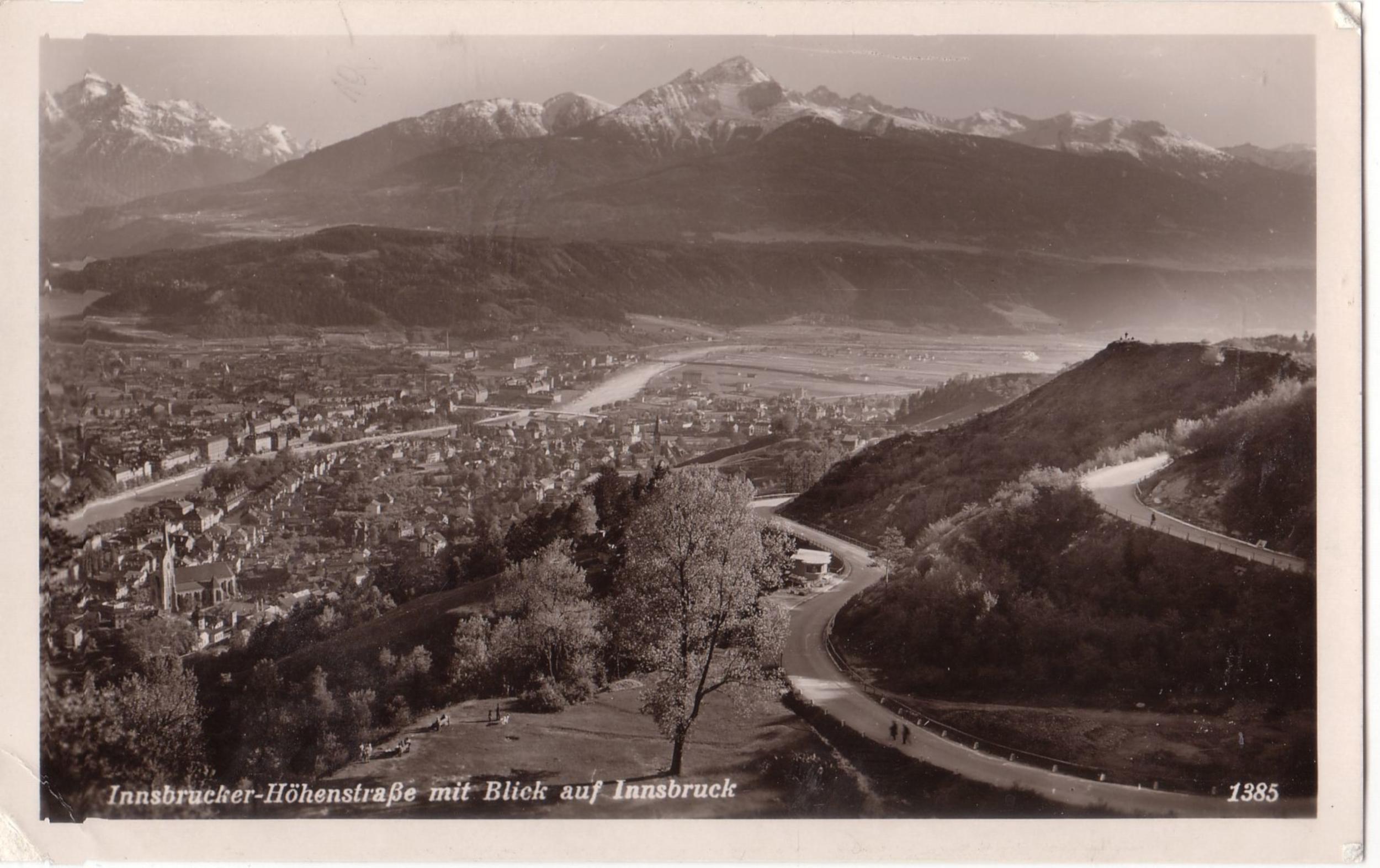Blick Von Der Höhenstraße Auf Innsbruck