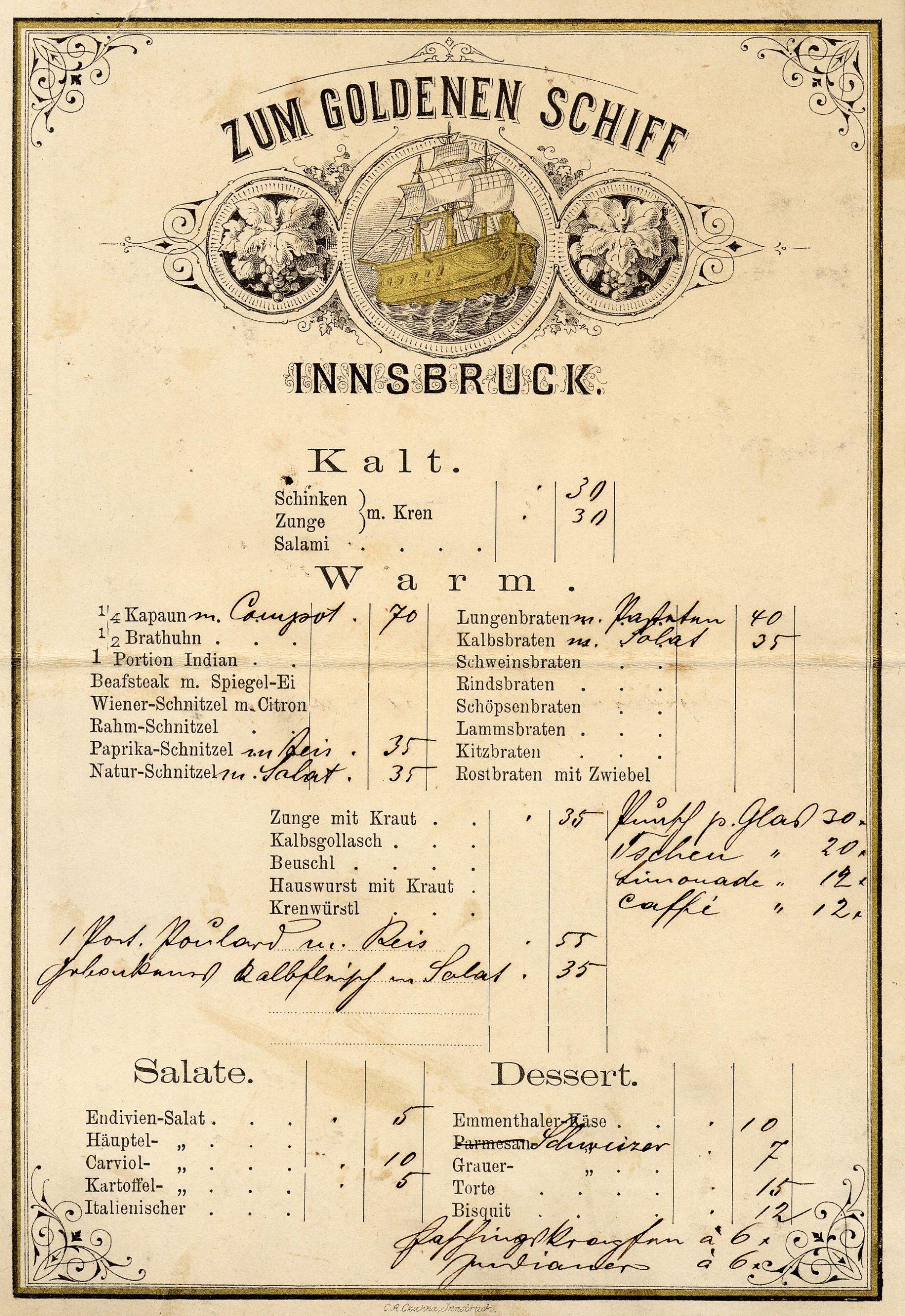 Dinner For Innsbruck
