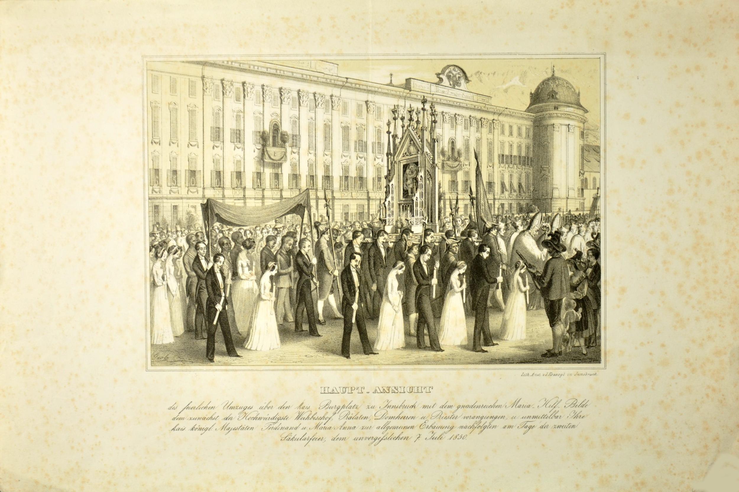 Ein Feierlicher Umzug Anno 1850