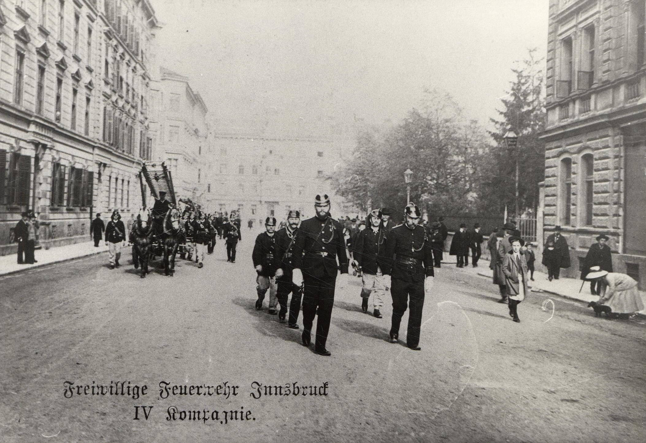 Die Gründung Der IV. Kompanie Der Feuerwehr Innsbruck Im Jahre 1878