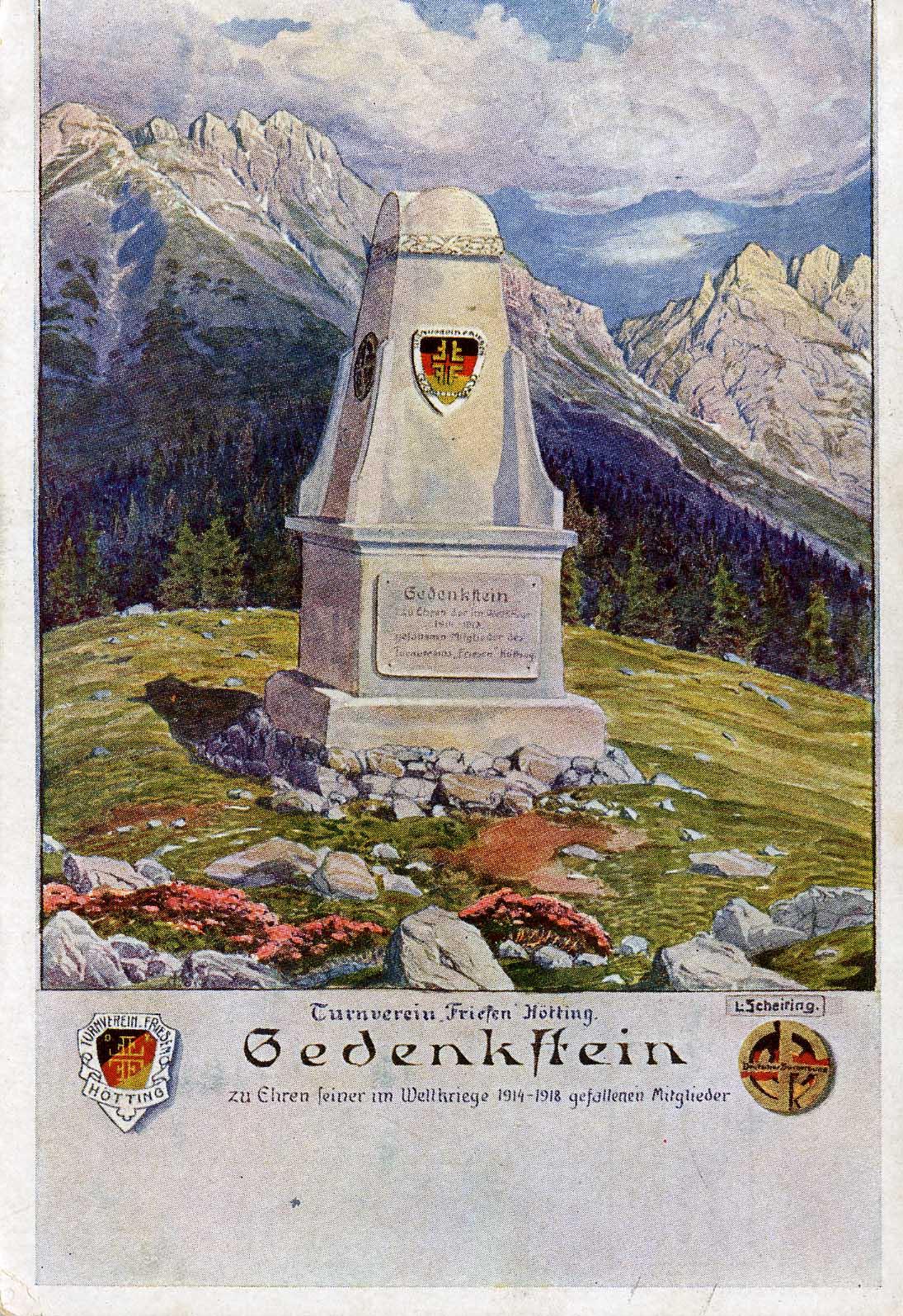 Das Denkmal Am Achselkopf