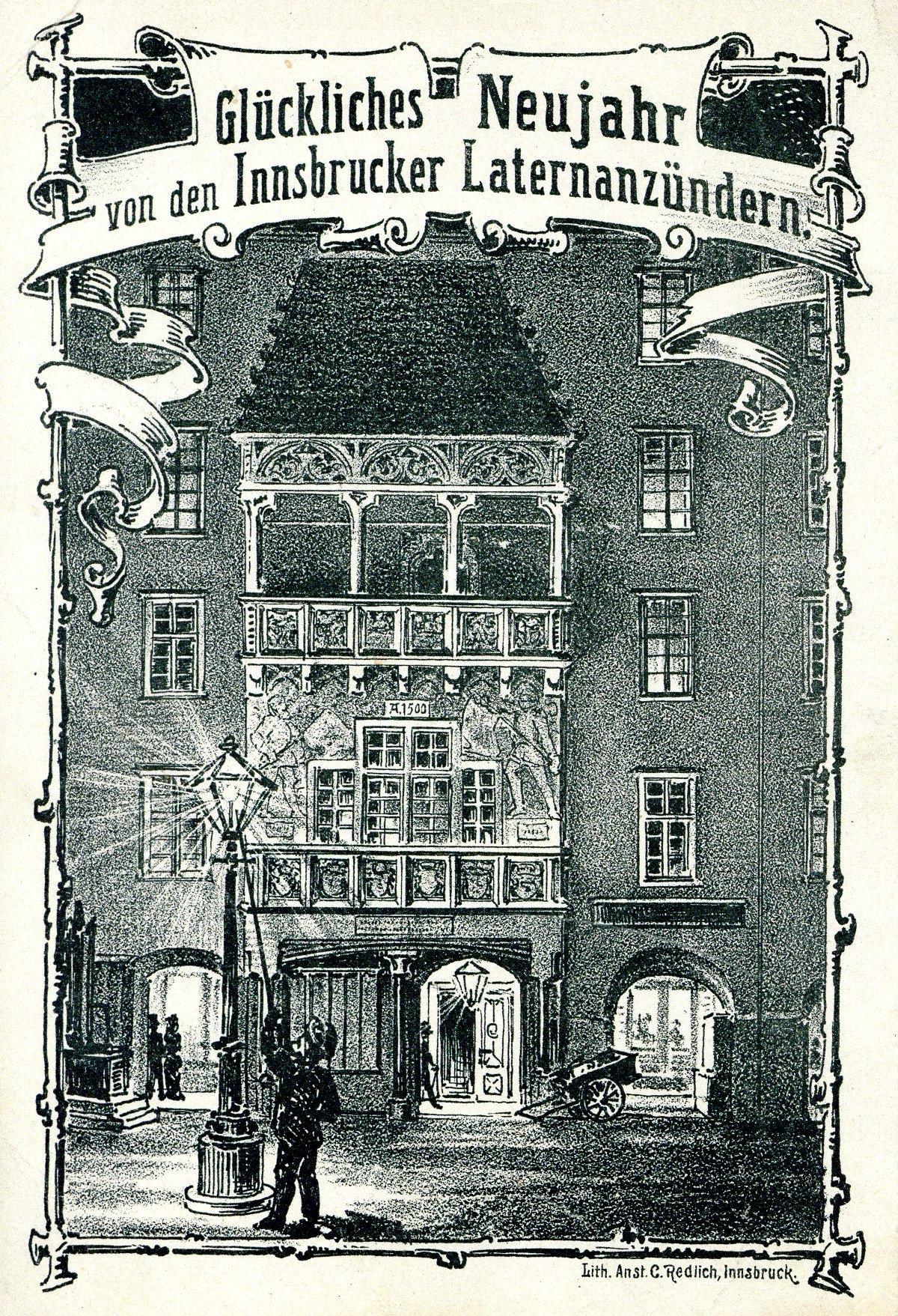 Glückliches Neujahr Von Den Innsbrucker Laternenanzündern