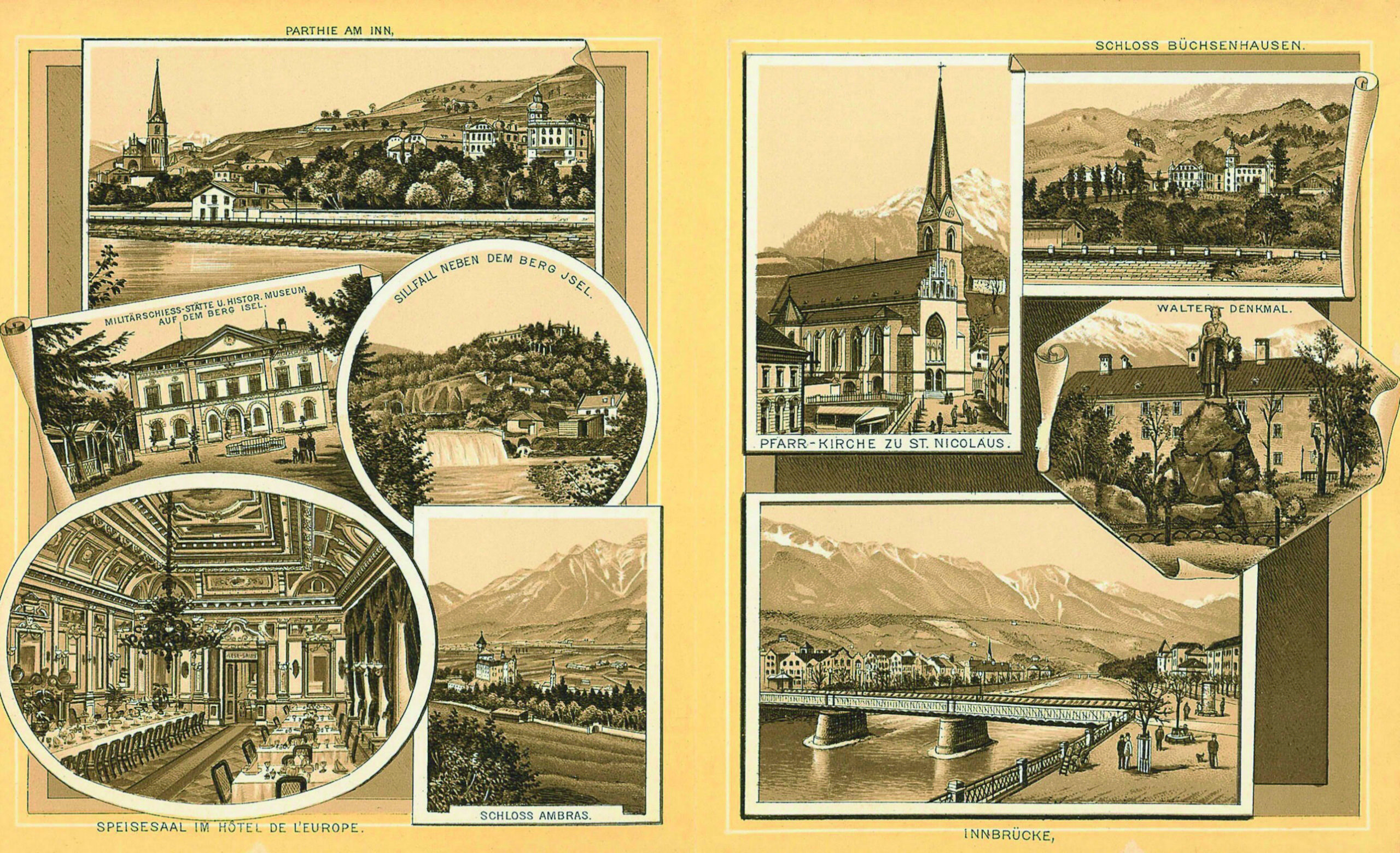 Ein Tourismus-Souvenir Des 19. Jahrhunderts
