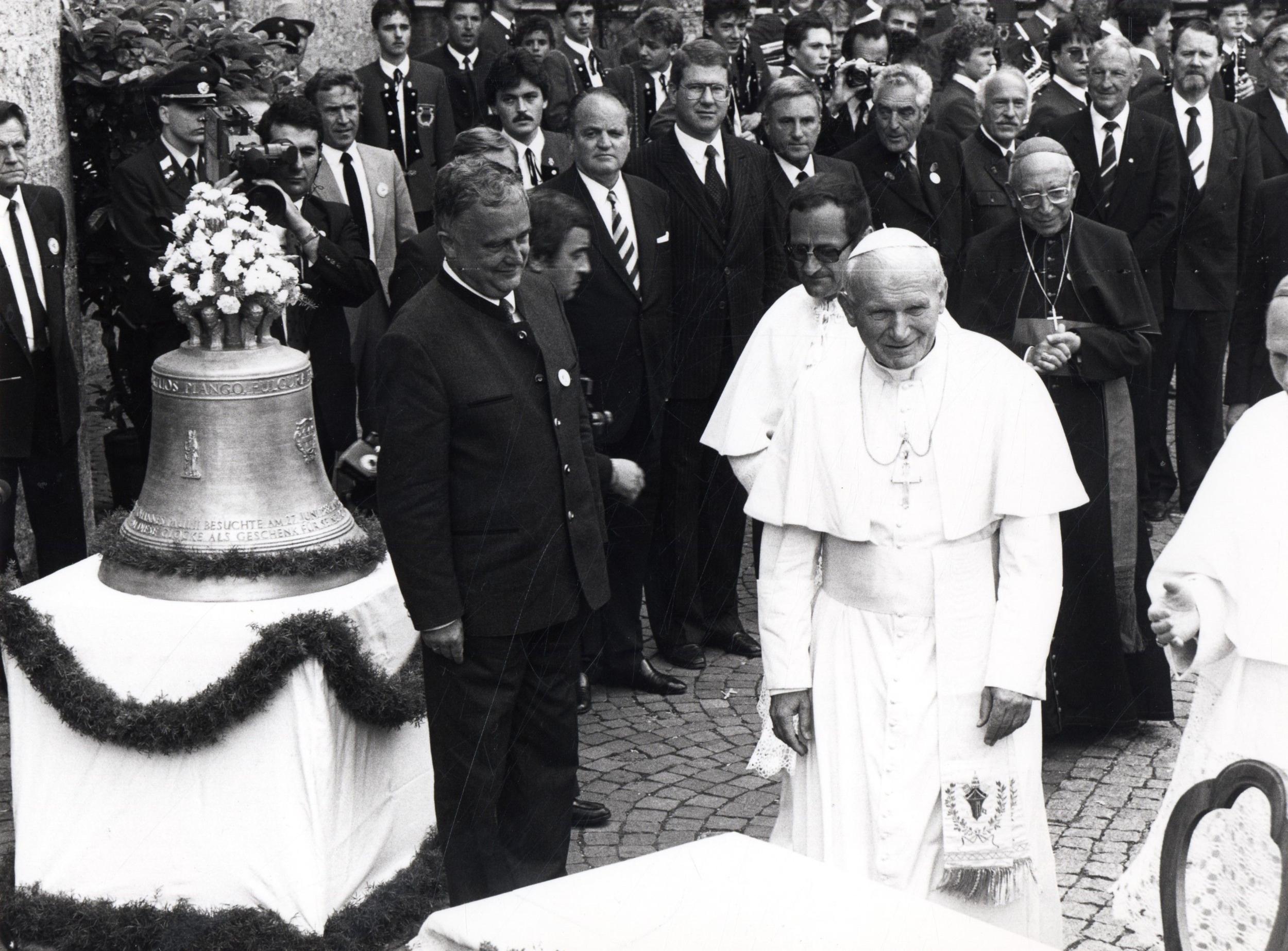 Papst Johannes Paul II. Zu Besuch In Innsbruck