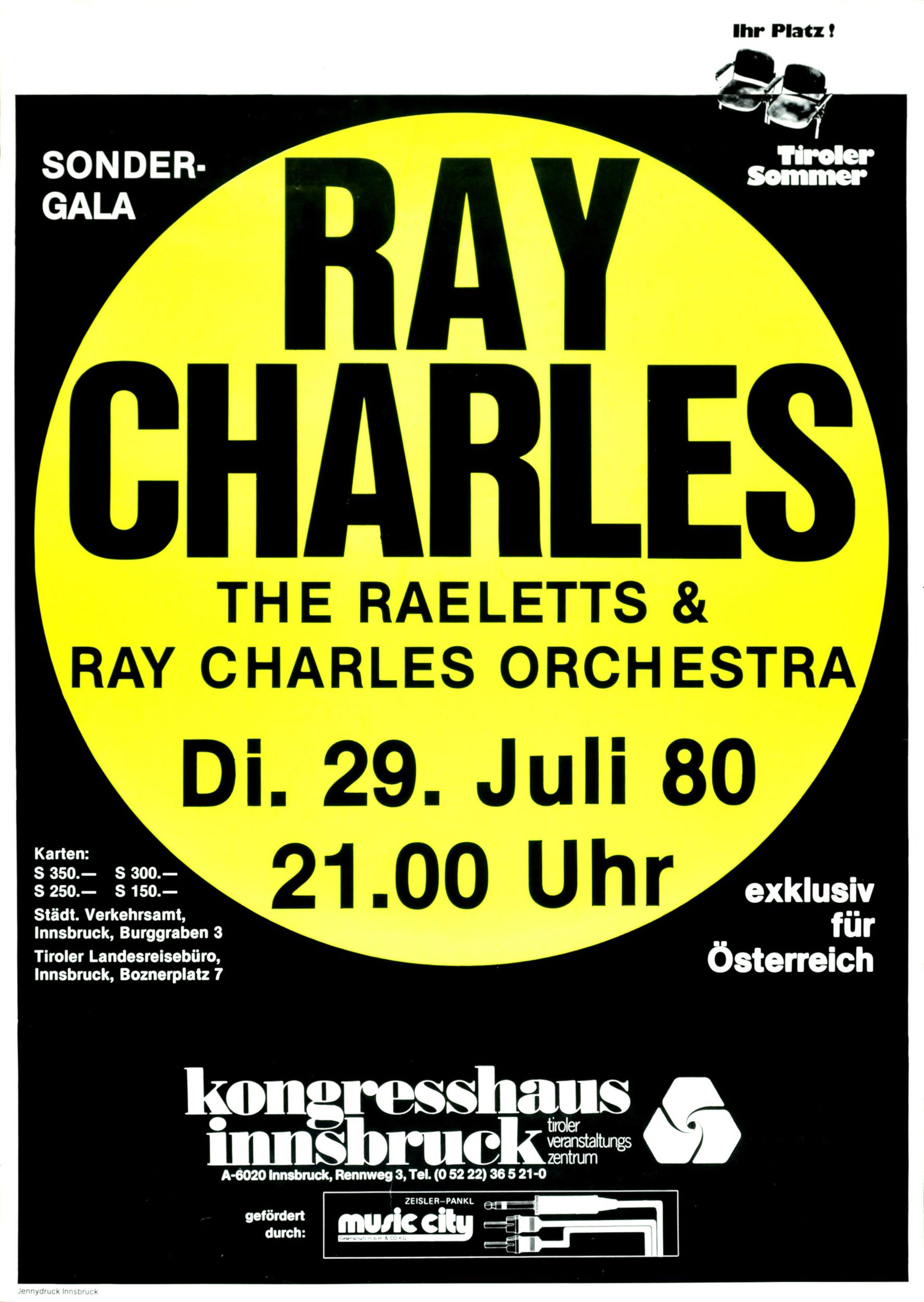 Ray Charles Zu Gast Im Innsbrucker Kongresshaus