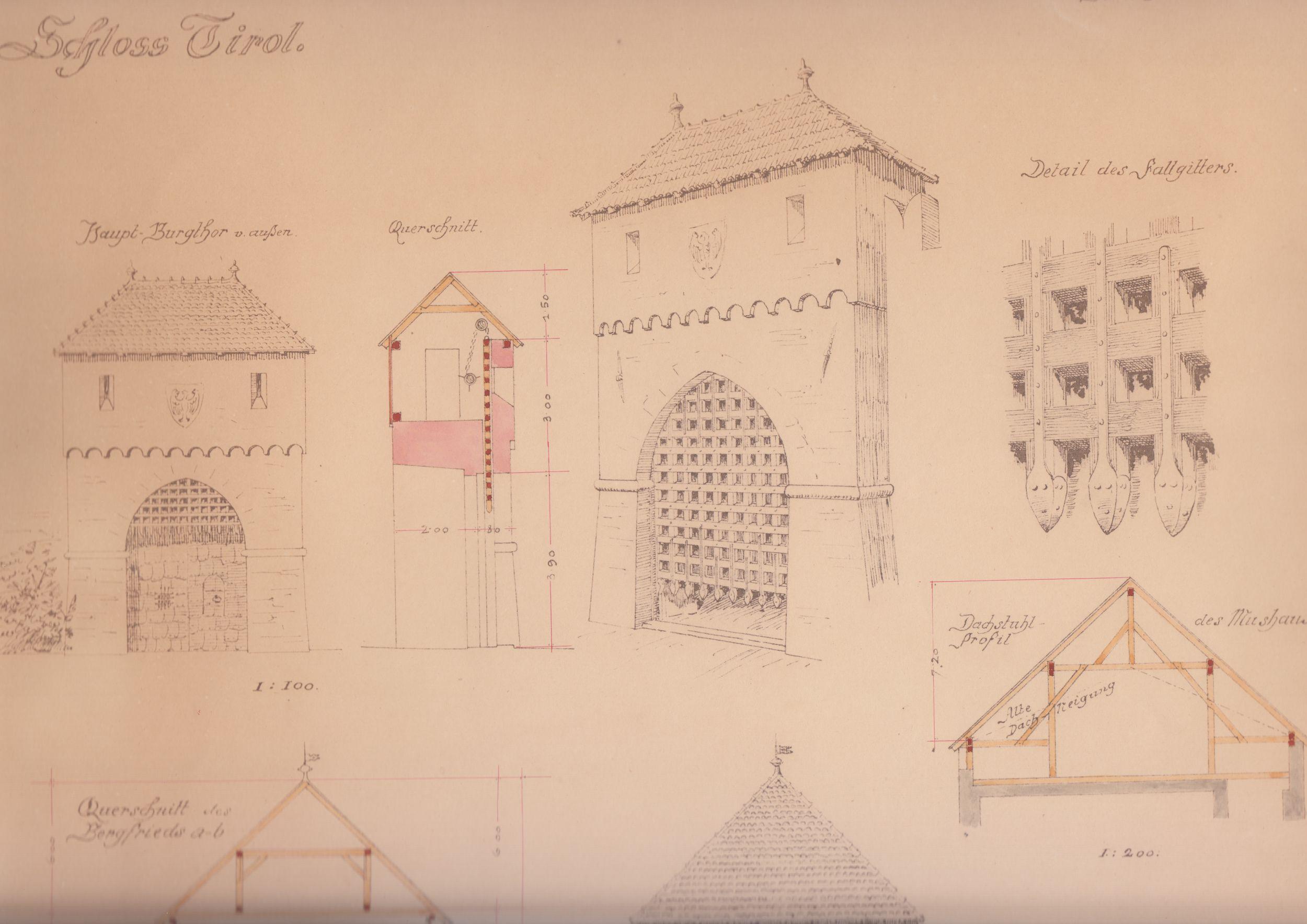 Entwürfe Für Schloss Tirol