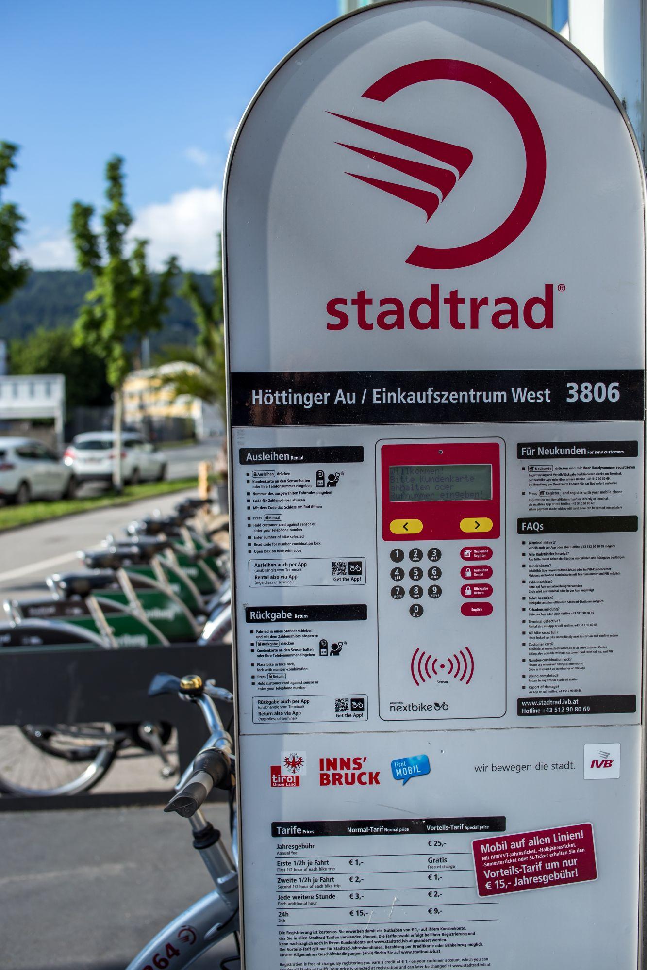 Das Stadtrad Innsbruck